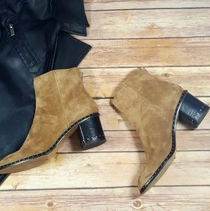 rag & bone Willow Stud Booties in Camel